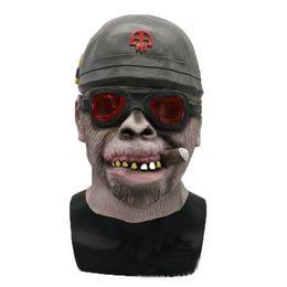 $enCountryForm.capitalKeyWord NZ - Hanzi_masks Animal Cosplay Mask Men Full Face Mask Cigar Orangutan Helmet Latex Masks Party supplies