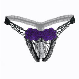 Women Lace Panties Thongs G-string Flower Rose Lingerie Bikini Underwear Tassels Panties Lingeries Sex Product Embroidery Underwear
