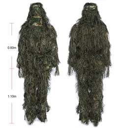 Full hunting camouFlage clothing online shopping - 4Pieces Hunting Woodland Camo Sniper Ghillie Suit Tactical Camouflage Clothing Camouflage Suits Tactical Camouflage Clothing Hunting Cloth