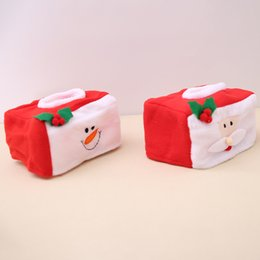 $enCountryForm.capitalKeyWord UK - Merry Christmas Santa Claus tissue box cover Christmas home Table decoration Creative snowman napkin holder For Paper Towel