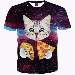 Cartoon 3d t shirts online shopping - Male Cats T shirt Men Women d Print Meow Star Cat Hip Hop Cartoon TShirts Summer Tops Tees Fashion d shirts