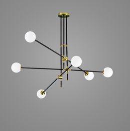 $enCountryForm.capitalKeyWord NZ - Guest room study glass ball molecules pendant lamp post-modern simple American magic beans long pipe pendant light
