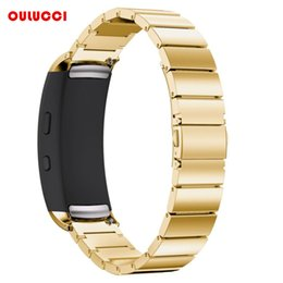$enCountryForm.capitalKeyWord NZ - wholesale Gear Fit2 Watch Bands, Stainless Steel Bracelet Smart Watch Strap With Unique Magnet Clasp for Samsung Fit 2 SM-R36