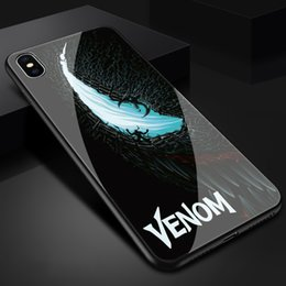 $enCountryForm.capitalKeyWord NZ - Free Shipping luxury tpu+Tempered Marvel comics venom Phone case for iphone X XR XS Max 7 6 6S 8 plus cases funny design cover