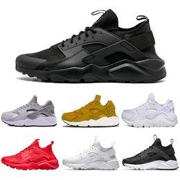 501ce192b777 Fashion Huarache 1.0 4.0 Running Shoes For Men Women triple White Black  Gold Sneakers Huaraches mens trainers Sports Shoe size 36-45