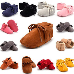 Wholesale Baby Girls Boy Infant Toddler Fringe Bowknot Shoes Infantil Fashion Boots Cute Soft Sole Tassels Mocassins Walking Shoes Booties