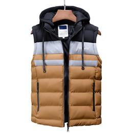 khaki collared vest 2019 - Vest Men New Stylish 2018 Autumn Winter Warm Sleeveless Jacket Waistcoat Men's Vest Fashion Casual Coats Mens Vests