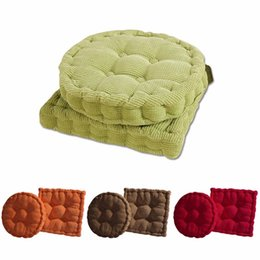 Padded Office Chairs NZ - Corduroy Tatami Cushion EPE pillow Office Chair Back Cushions Sofa Throw Pillows Home Decorative Pillows Chair Cushion Pad