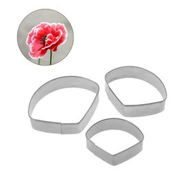 $enCountryForm.capitalKeyWord Australia - 3pcs Hibiscus Flower Petal Sugar Cutters Kitchen Baking Tool Fondant Party Wedding Decor Cookie Cake Biscuit Pastry Cute
