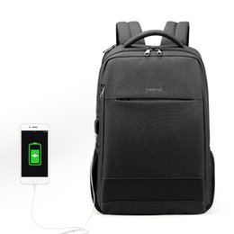 f1f14b519a 2019 Newest Security Travel Men TIGERNU Laptop Backpack Short Business  Travel Bag for Teenagers