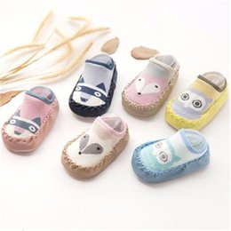 $enCountryForm.capitalKeyWord NZ - Baby shoes socks Children Infant Cartoon hot Baby Gift Kids Indoor Floor Socks Leather Sole Non-Slip Thick Towel Socks free shipping 2018