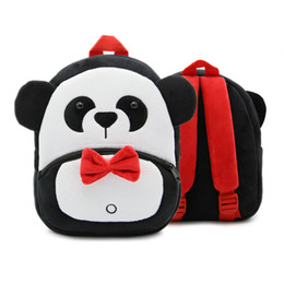 Discount cartoon panda doll Kids Bags Lovely Panda Cartoon Doll Toy Baby Backpack Children Mini Shoulder Bag for Kindergarten Boy Girls Plush Backpack
