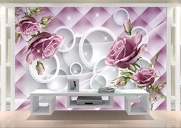 $enCountryForm.capitalKeyWord Australia - Custom Photo Wallpaper Mural Hand Painted Purple Rose 3D TV Wall wall papers home decor papel de parede infantil