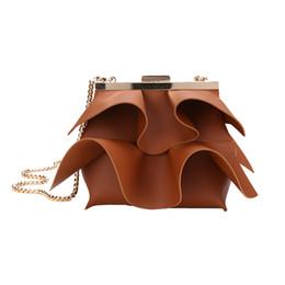 $enCountryForm.capitalKeyWord NZ - Women's New Wave Skirt Shoulder Bag Woman Single Shoulder Pack Personality Chain Lotus Leaf Edge Sac Bandouliere Femme