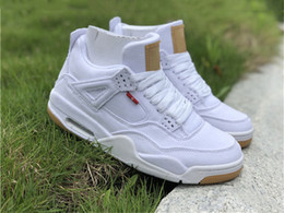 a1b80b4b1a24 2018 Release OG 4 Denim 4s Black White Jean Jiont Limited For Man AO2571-001  Basketball Shoes Sneakers Authentic Quality With Original Box