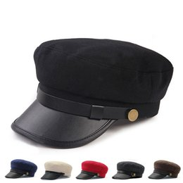 Navy hats online shopping - Women Spring And Winter Caps Souvenirs British Style Navy Cap Brand Designer Student Hat Hot Sale dt Ww