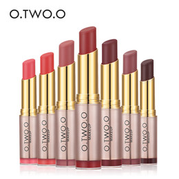 Girls Sweet Lips Australia - O.TWO.O 20pcs lot Wholesale Makeup Waterproof Lipstick Matte Smooth Lipgloss Long Lasting Sweet Girl Lip Makeup
