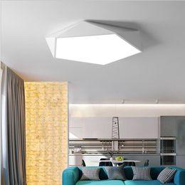 Creativo arte geométrico iluminación led lámpara de techo para sala de estar estudio estudio pasillo balcón Iluminación de techo en venta