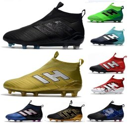 7cdecdd73e8 New Mens ACE 17+ PureControl FG Soccer Shoes 2018 Thunderstorms Series Cheap  Top Men Soccer Cleats Outdoor Fg Football Boots Shoes