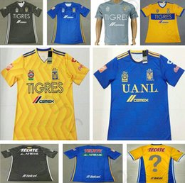 5c62d7a27 Custom Football Jersey Shirts Canada - 2018 Mexican League Club Tigres UANL Soccer  Jersey 4 H
