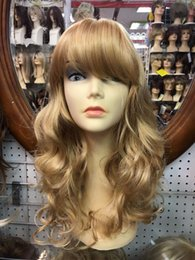 $enCountryForm.capitalKeyWord NZ - 2017 SIN CITY WIGS SALE! LONG BEACH WAVES SOFT CURLS BANGS SEXY GOLDEN BLONDE
