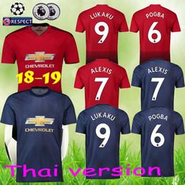 3e7794cd3 Thailand Alexis sanchez POGBA man soccer jersey 2019 LUKAKU LINGARD  RASHFORD football kit Top jersey UTD MATIC jersey 18 19 soccer shirt