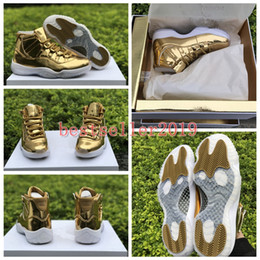 men balls 2018 - With Box 2018 New 11 Mens Basketball Shoes Trainers 11s Luxury Gold for Men Designer Sports Sneakers Brand Basket Ball S