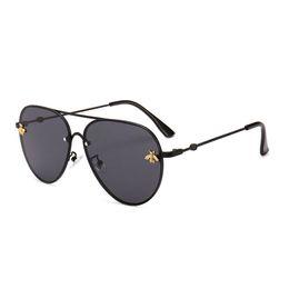 Designer Sunglasses UK - Brand design Sunglasses women men retro Brand designer Good Quality Fashion metal Oversized sunglasses vintage female male UV400