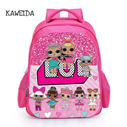 Wholesale Kids LOL Doll School Bag Pink LOL Pets Dolls glitter series Book Bags Backpack for Girls Cute Custom Name Printed Schoolbag UK Y18110107