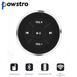 $enCountryForm.capitalKeyWord Australia - Wireless Bluetooth Media Button Remote Controller Car Motorcycle Bike Steering Wheel MP3 Music Play for iOS Android Phone Tablet