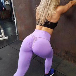 Lady tight yoga pants online shopping - High Waist Yoga Pants Clothing Women Fashion Sports Tights Trousers Lift The Hips Lady Designer Leggings yz Ww