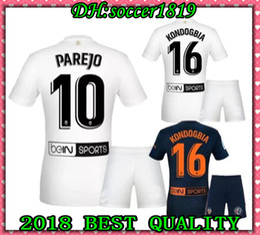 95614a03e 18 19 Adult kits PAREJO Soccer Jerseys 2019 RODRIGO ZAZA Soccer shirt  KONDOGBIA C.SOLER G.GUEDES S.MINA Custom football uniform