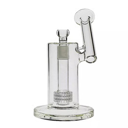 matrix bongs Canada - 22.5cm Tall Matrix sidecar glass smoking bong birdcage perc Oil Rig thick smoking water pipes Joint size 18.8mm