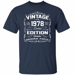 $enCountryForm.capitalKeyWord UK - Custom T Shirts Cheap O-Neck Vintage 1978 Limited Edition Shirts Awesome Gifts For Birthday T Shirt Men Short Sleeve Print Tee