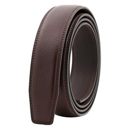 $enCountryForm.capitalKeyWord UK - Newest Men's Business Soft Faux Leather Belt No Buckle Wide Band Replacement Waistbelt
