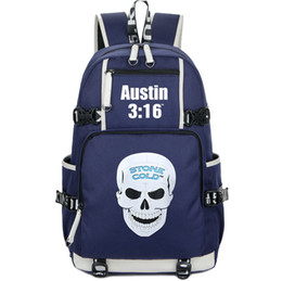 Unisex Backpack School Bag UK - Steve Austin rucksack Stone Cold fans daypack Wrestle star schoolbag Leisure knapsack Quality backpack Sport school bag Out door day pack