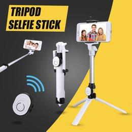 Универсальный Bluetooth Selfie Stick выдвижная Портативный мини карманный Автопортрет с регулируемым держателем бесплатно Bluetooth пульт дистанционного спуска затвора