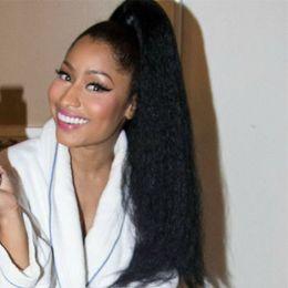 $enCountryForm.capitalKeyWord Australia - Human Hair Ponytail Extension Black Off Black Kinky Straight Remi Human Hair Extensions 20 Inch Real Hair Ponytail Extension 100 Per Piece