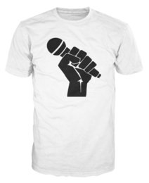 $enCountryForm.capitalKeyWord Canada - Fight For Music Power Fist Mic Microphone Hipster Unisex T-Shirt T-shirt Men Male Brand Clothing White Short Sleeve Custom Big Size Family T