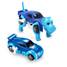 China Cool Automatic Transform Dog Car Vehicle Clockwork Wind Up Toy Variety Cute Funny Children Kids Babies Model Toys Gift 4 Colors cheap varieties model suppliers