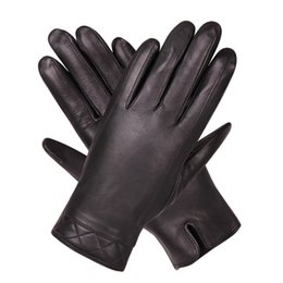 $enCountryForm.capitalKeyWord Australia - Leather Gloves Man Winter Keep Warm Thicken Plus Velvet Business Driving Motorcycle Touchscreen Sheepskin Gloves Male M18006NC-9