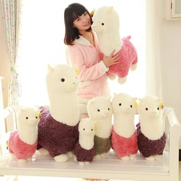 Discount valentines stuffed animals - Cartoon Grass Mud Horse Doll Kawaii Plush Stuffed Alpaca Toy For Valentine Day Children Birthday Gift 25bg YY