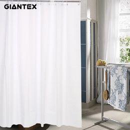 Wholesale GIANTEX White PEVA Bathroom Waterproof Shower Curtains With  Plastic Hooks U0976
