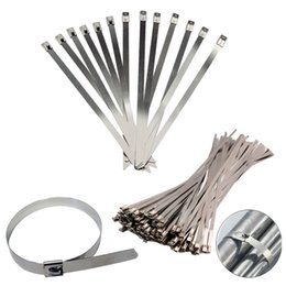 $enCountryForm.capitalKeyWord Canada - STAINLESS STEEL METAL CABLE TIES TIE ZIP WRAP EXHAUST HEAT STRAPS INDUCTION PIPE 10PCS bag