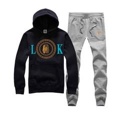 Discount flannel suits - S-3XL Spell color Hottest last kings Plus velvet hoodie +pants , Men's fashion suit last kings , hip hop Tracksuits