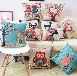 Green Office Chairs Australia - Pillow Covers Cushions Cover Solid Color Linen Fashion Office Sofa Chair Home Textiles Pillowcase Without Pillow Core
