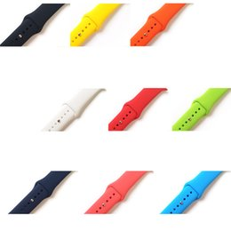 Replacement bRacelet watch bands online shopping - Soft Silicone Replacement Sport Band For Apple Watch Series mm mm Wrist Bracelet Strap for iWatch Sportsbands