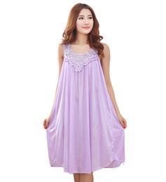 Summer long silk nightgown nightdress for women plus size ladies lingerie  pajama maternity sleepwear pregnant nightwear robes 2718ae270