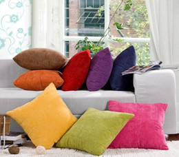Discount corduroy pillow covers New Multicolor Concise Corduroy Square Corn Grain Shaped Pillowcase Car Sofa Throw Pillow Decor Cushion Cover