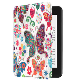 Smart Tablets NZ - Magnetic PU Leather Case Auto Sleep Wake UP Smart Cover for Amazon New Kindle Paperwhite 2018 6inch Tablet+Stylus